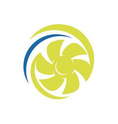 rotation water wind spinning turbine logo vector image