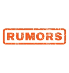 Rumors Rubber Stamp vector