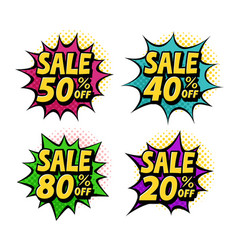 sale discount label special offer symbol pop vector image