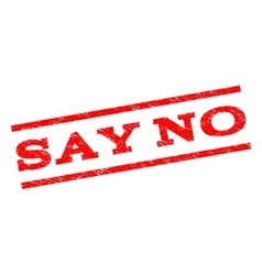 Say No Watermark Stamp vector