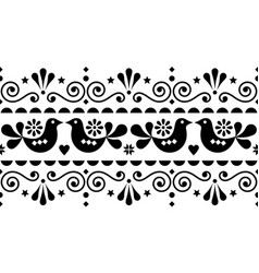 scandinavian folk seamless long pattern vector image