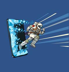 Scientific online applications concept astronaut vector