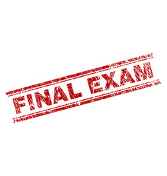 scratched textured final exam stamp seal vector image