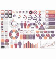 Set of assorted business-related infographic vector