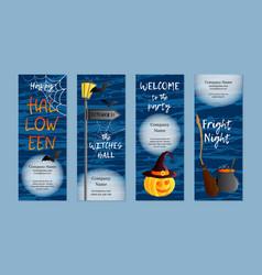 Set of four vertical banners halloween vector