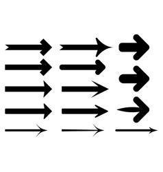 set of the black arrows vector image