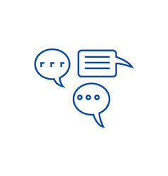 Simple chats line icon concept simple chats flat vector