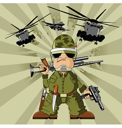 Soldier vector image vector image