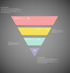 Triangle infographic template consists of four vector