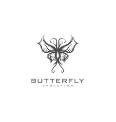urban butterfly logo vector image