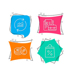 vacancy update data and savings icons shopping vector image