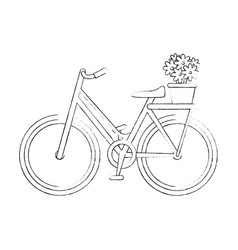 Vintage bicycle icon vector