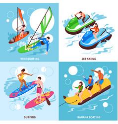 water sport 2x2 design concept vector image