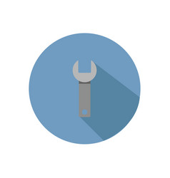 Wrench icon in on white background vector