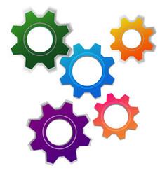 abstract cogwheel background vector image