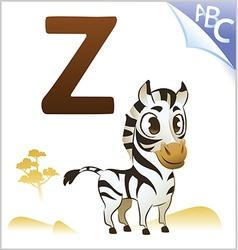 Animal alphabet for the kids Z for the Zebra vector image