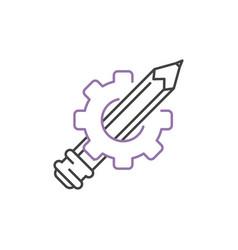 Art icon design linear vector