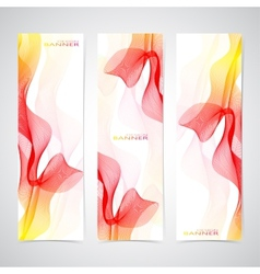 Colorful Vertical Set Of Banners smoky waves vector image