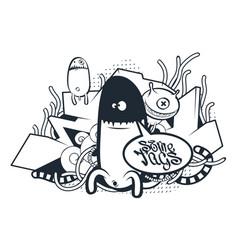 graffiti doodle art vector image