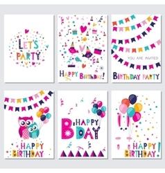 Happy birthday Let s birtday party vector image