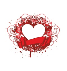 heart with paterns vector image