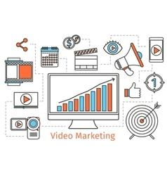 Video marketing strategy Abstract social vector image vector image