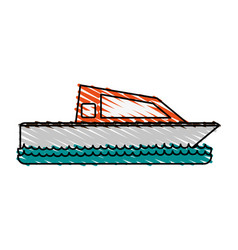 boat on water icon image vector image vector image