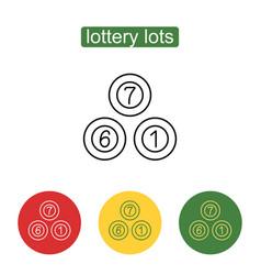 lottery balls icon vector image