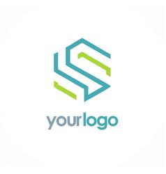 shape line letter s business logo vector image