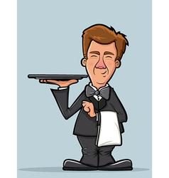 Waiter Character vector image