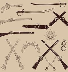 Ancient weapon Ax sword sabers grenades vector image vector image