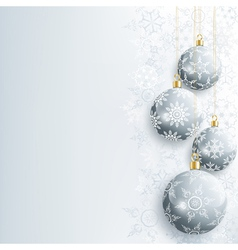Beautiful New Year and Christmas card with gray vector image