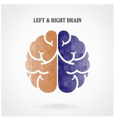 Creative left brain and right brain vector image