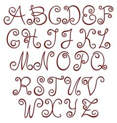 Swirly Alphabet vector image