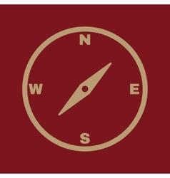 The compass icon compass symbol vector