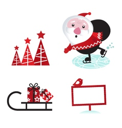winter design retro christmas elements vector image vector image