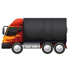 A luggage truck vector image
