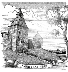 City sketches vector image vector image