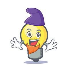 elf light bulb character cartoon vector image