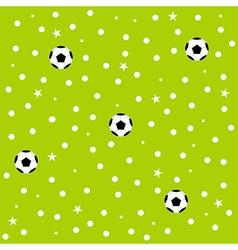 Football Ball Star Polka Dot Green Background vector image vector image