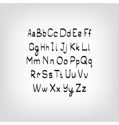 Hand drawn letters Letters of the alphabet vector image