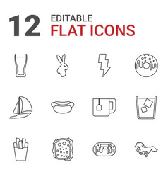 12 fast icons vector image