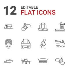 12 passenger icons vector