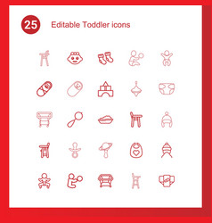 25 toddler icons vector