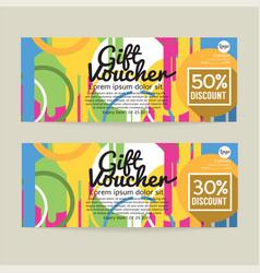 30 - 50 percent discount voucher template vector image