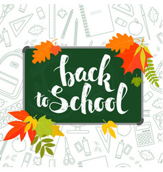 back to school blackboard vector image