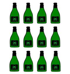 Bottles of poison vector