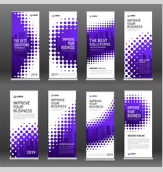 business roll up banners design templates set vector image