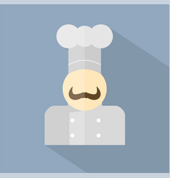 chef icon set of great flat icons with style vector image