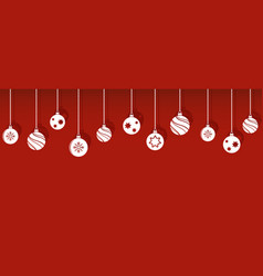 christmas balls decorations isoladed hanging vector image